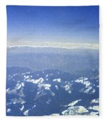 Himalayas Blue Fleece Blanket