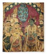Hindu Wedding Ceremony Fleece Blanket