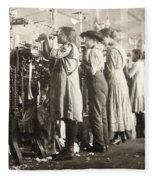 Hine: Child Labor, 1910 Fleece Blanket