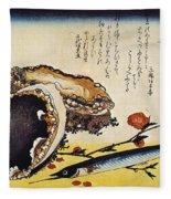 Hiroshige: Color Print Fleece Blanket
