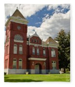 Historic Courthouse Marysvale Utah Fleece Blanket