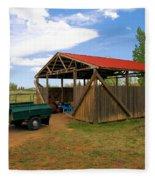 Historic Fruita District Barn Fleece Blanket