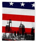 Historic Philadelphia  Fleece Blanket