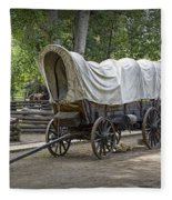 Historical Frontier Covered Wagon Fleece Blanket