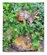 Hitchin A Ride On A Turtle  Fleece Blanket