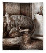 Hobby - Wood Carving - Wooden Toys Fleece Blanket