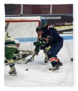 Hockey One On Four Fleece Blanket