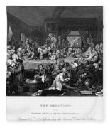 Hogarth: Election Fleece Blanket