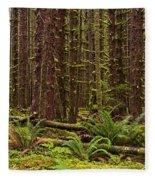 Hoh Rainforest Fleece Blanket