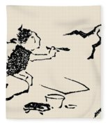 Hokusai: Horse, C1814 Fleece Blanket