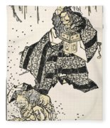 Hokusai: Setsubun, 1816 Fleece Blanket
