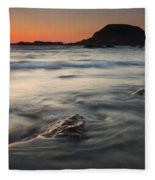 Holding Back The Sea Fleece Blanket