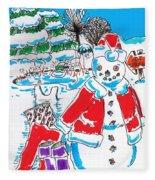 Holiday Dip Fleece Blanket