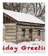 Holiday Greetings Fleece Blanket