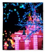 Holiday Lights 8 Fleece Blanket