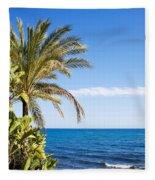 Holidays By The Sea Fleece Blanket