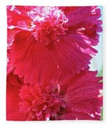 Hollyhock Duet Fleece Blanket