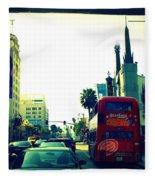 Hollywood Boulevard In La Fleece Blanket