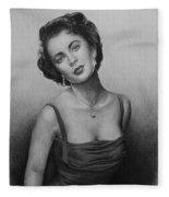 hollywood greats Elizabeth Taylor Fleece Blanket