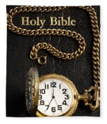 Holy Bible Pocket Watch 1 Fleece Blanket
