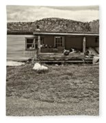 Home Sweet Home Sepia Fleece Blanket