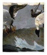 Homer: Right & Left, 1909 Fleece Blanket