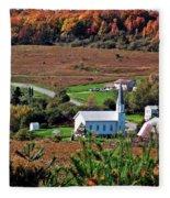 Homestead Of Faith Fleece Blanket