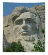 Honest Abe In Stone Fleece Blanket