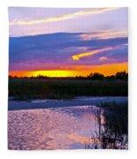 Honeymoon Island Sunset Fleece Blanket