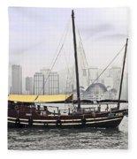 Hong Kong Junk Fleece Blanket