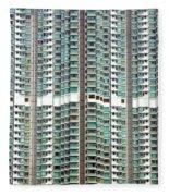 Hong Kong Residential Building Fleece Blanket