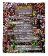 Honolulu Zoo Signs Fleece Blanket