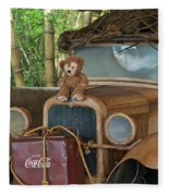 Hood Ornament Disney Bear Fleece Blanket