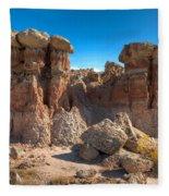 Hoodoos At Gooseberry Desert Wyoming Fleece Blanket