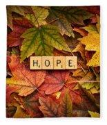 Hope-autumn Fleece Blanket