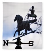 Horse And Buggy Weather Vane Fleece Blanket