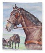 Horse And Cart Fleece Blanket