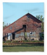 Horse Barn Fleece Blanket