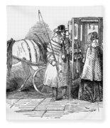 Horse Carriage, 1847 Fleece Blanket