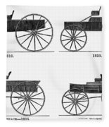 Horse Carriages, 1810-1860 Fleece Blanket