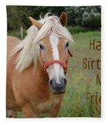 Horse Friend Birthday Fleece Blanket