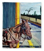 Horse In Malate Fleece Blanket