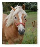 Horse Miss You Fleece Blanket