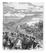 Horse Racing, 1850 Fleece Blanket