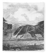 Horse Racing, 1862 Fleece Blanket