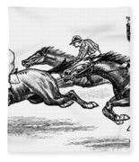 Horse Racing, 1900 Fleece Blanket