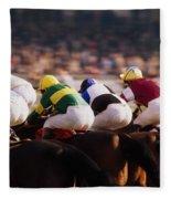 Horse Racing, Phoenix Park, Dublin Fleece Blanket