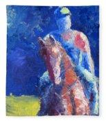 Horse Rider Fleece Blanket