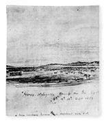 Horse Slaughter Camp 1858 Fleece Blanket