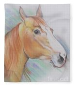 Horse Spooked Fleece Blanket